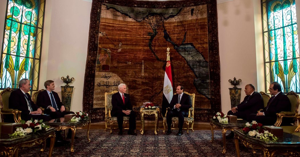Pence Praises Egypt Partnership in Meeting With Sisi