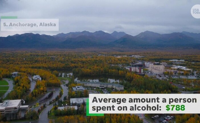 American cities that spend the most on alcohol