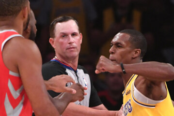 N.B.A. Soft-Pedals Suspensions for Lakers and Rockets' Fistfight