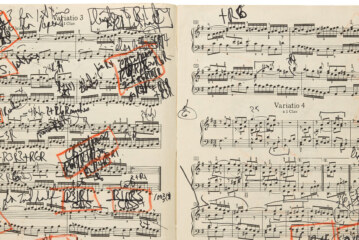Glenn Gould's Bach Score Surfaces, Scrawls and All
