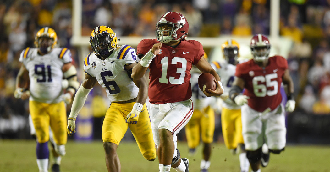 Alabama Stuffs L.S.U., Putting an Exclamation Point on Its Top Ranking
