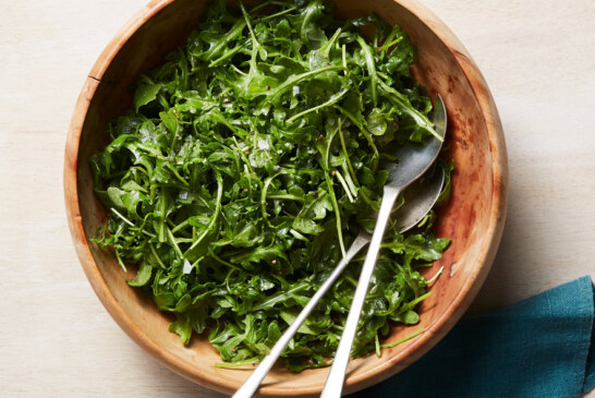 Arugula Salad With Anchovy Dressing – Video