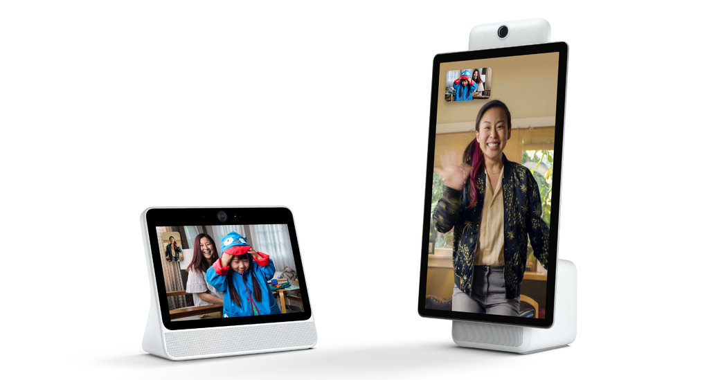 Facebook's New Gadget Is a Video-Chat Screen With a Camera That Follows You