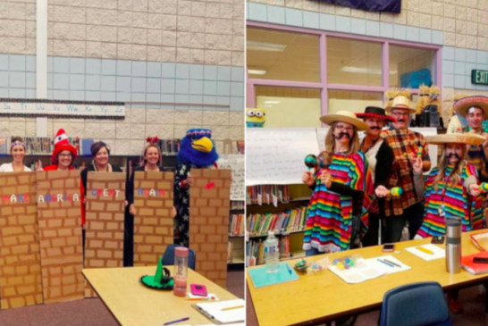 Idaho Elementary Teachers Dressed Up As Mexicans And The Border Wall For Halloween