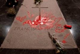 Artist Paints Dove Over Franco's Tomb