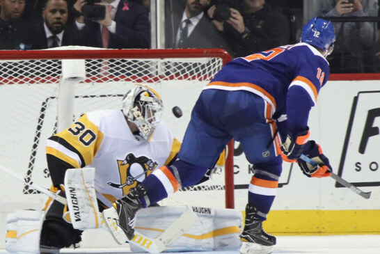 Bailey's Shootout Goal for Islanders Beats the Penguins