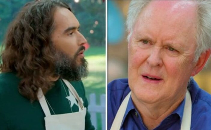 Great Celebrity Bake off: John Lithgow hits back at Russell brand 'Take that!' | Celebrity News | Showbiz & TV