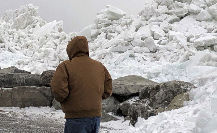 Watch As Lake Erie Sends A Massive 40-Foot 'Ice Tsunami' Crashing Ashore