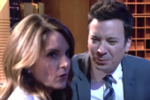 Tina Fey Can't Hide Anger At Jimmy Fallon During On-Air Break