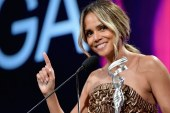 Topless Halle Berry Shows Off A Really Big Back Tattoo