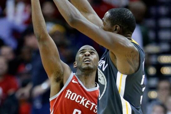 Chris Paul Scores 33 as Rockets End Warriors' Road Streak