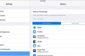 Managing an iPad's Battery Use