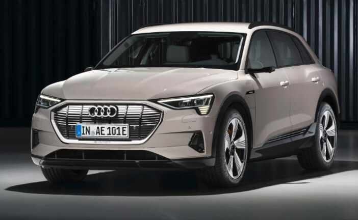 Audi E-Tron, a new all-electric SUV, is unveiled