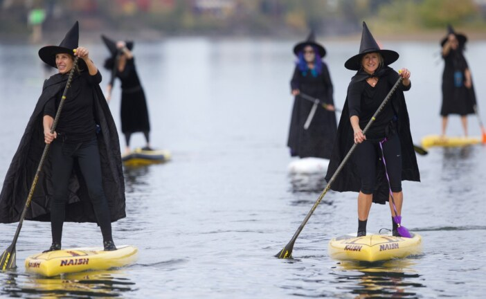 Oregon Witches Trade Brooms For Paddles