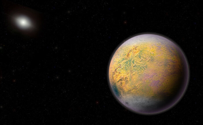 A Goblin World That Points Toward Hidden Planet Nine in the Solar System