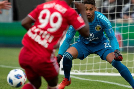M.L.S. Playoffs: Crew Beat Red Bulls, and Timbers Top Sounders