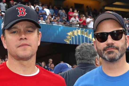 Matt Damon And Jimmy Kimmel Renew Feud At World Series Game