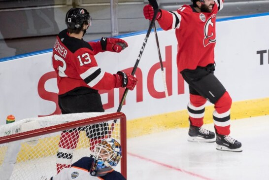 Devils, Led by Palmieri and Zajac, Open With Win in Global Series