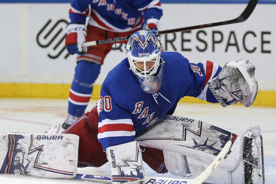 Rangers, Led by Lundqvist's 39 Saves and Vesey's Two Goals, Top Sabres